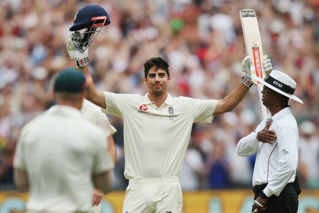 The last time Alastair Cook reached three figures was in Melbourne in December