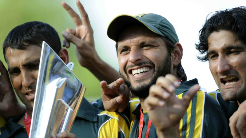 Afridi was Player of the Match in the final when Pakistan won the World T20 in 2009