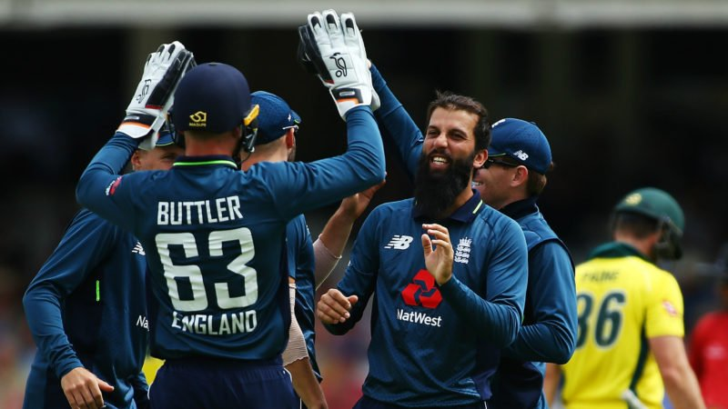 Moeen Ali led the way as Australia sank to 90-5 in the first ODI
