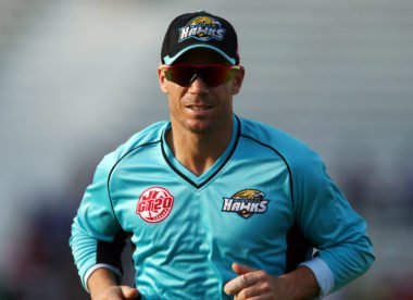 David Warner out for 1 on comeback, but glad for something to smile about