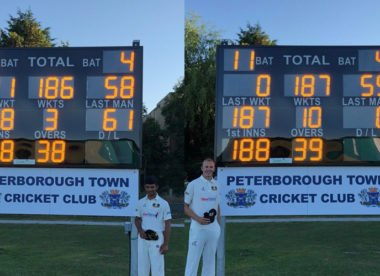 Collapse of 7 for 1 in 11 balls seals astonishing club cricket win