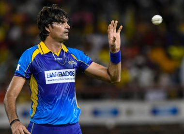 Mohammad Irfan bowls 23 dot balls in four-over spell