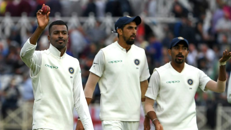 Pandya led the way as the Indian pacers picked up all 10 England wickets