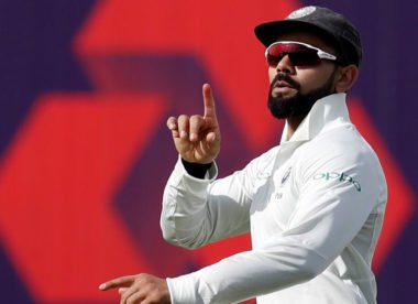 Virat Kohli sends Joe Root off with mock mic-drop celebration