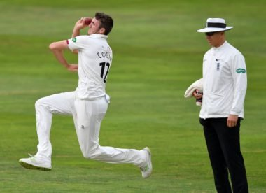Watch: Overton, Trescothick combine for incredible Somerset hat-trick