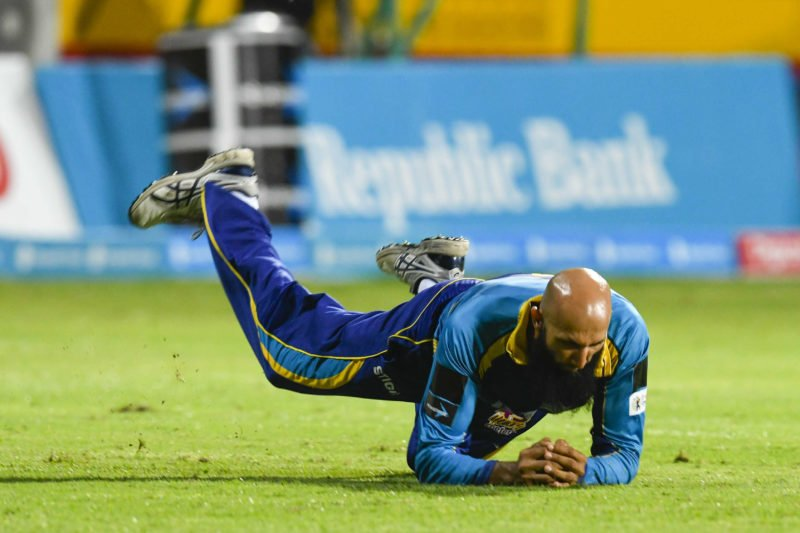 Amlasustained a finger injurywhilefielding during the Caribbean Premier League