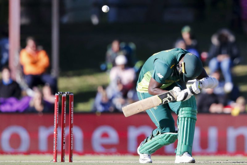 Batsmen from both sides were made to hop and fend