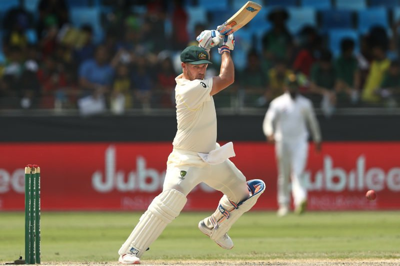 Aaron Finch hit a half-century on his Test debut – scoring 62 from 161