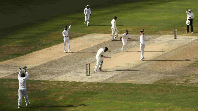 Abbas has picked up all three Australian wickets to fall in their second innings
