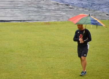 Opening day of England's final warm-up match washed out