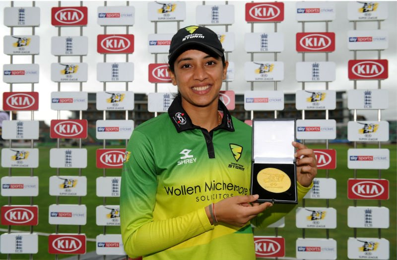 Western Storm's Smriti Mandhana was the leading run-getter of the 2018 Women's Super League