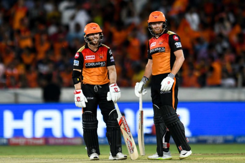 David Warner and Jonny Bairstow's opening partnership of 185 is the highest in IPL history