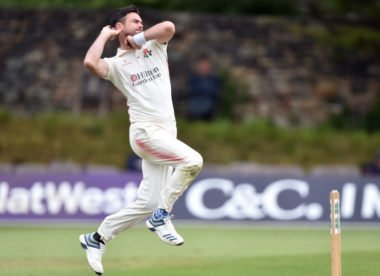 James Anderson to have scan on calf injury