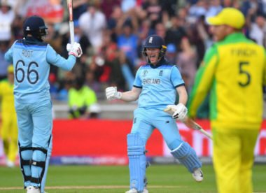 Morgan restores control as England crush Australia to make World Cup final