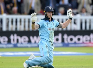 Is this what Ben Stokes said to the umpire after unconventional six?