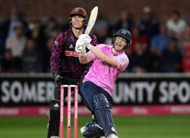 Morgan hits 83 off 29 balls in record T20 Blast run-chase