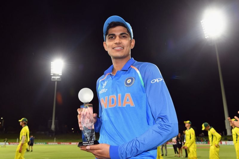 Shubman Gill was adjudged 2018 Under-19 World Cup's Player of the Tournament