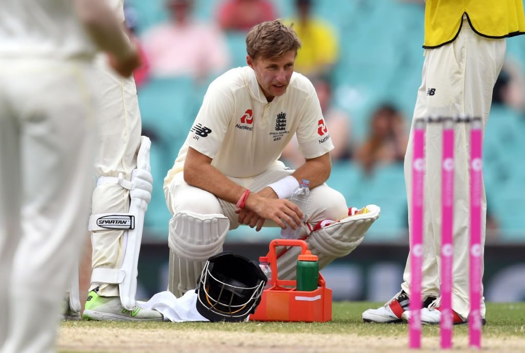 Root retired hurt with dehydration in the 2018 Sydney Test