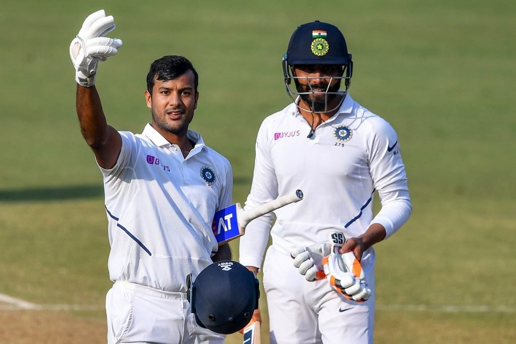 Mayank Agarwal got his second double century in four Tests for India