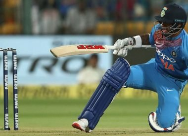 Shikhar gets dismissed by 'junior' Dhawan for 99