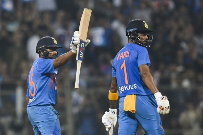 Rohit Sharma and KL Rahul added 135 for the opening wicket in just 11.4 overs