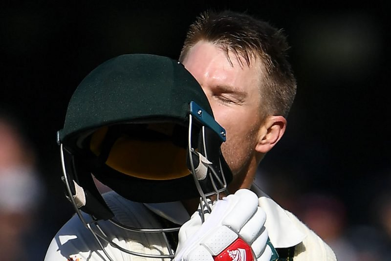 David Warner celebrates the fifth-best Test innings of 2019
