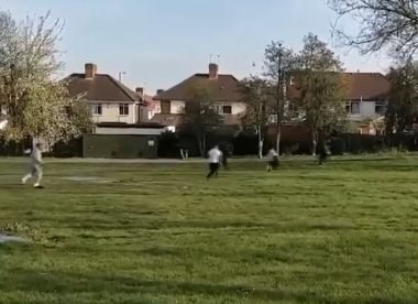 Men run away from police after breaking lockdown rules to play cricket in London