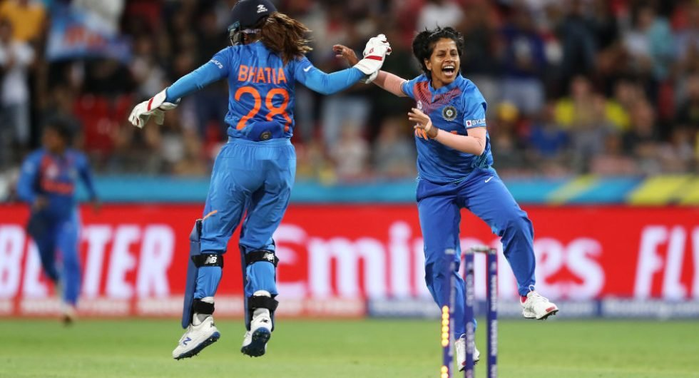 Poonam Yadav celebrates a game-changing spell against Australia in Match 1 of the Womens T20 World Cup