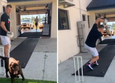 Throwdowns, best friend and pet dog help Labuschagne ace lockdown training