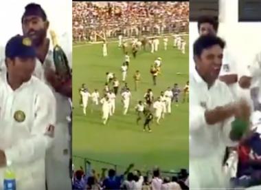 Resurfaced clip of India celebrating Kolkata 2001 win shows another side to Rahul Dravid