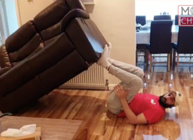 Watch: Monty Panesar shares sofa-based leg workout video