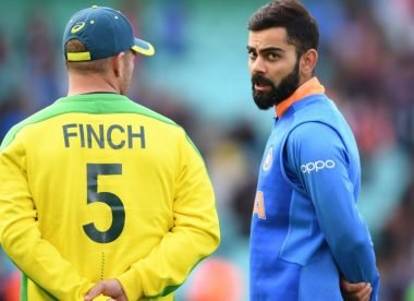 When Finch asked the umpire for advice on how to bowl to Kohli and Rohit