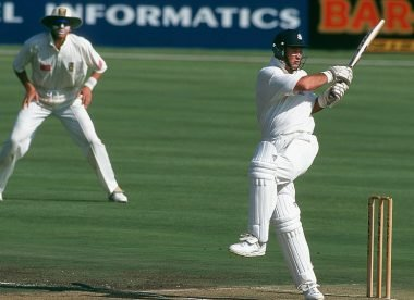 "When Graeme Hick ""hammered"" Donald and Pollock in their own backyard"