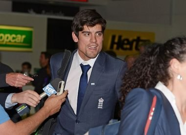 When Alastair Cook encountered a mystery guest at Melbourne airport