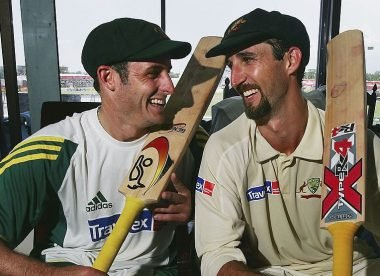 'Pull your head in, Dizzy!' – How Hussey helped Gillespie reach iconic 201*