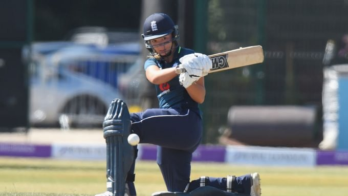 Katie George's hilarious reaction to a fielder who thought she couldn't hit the ball