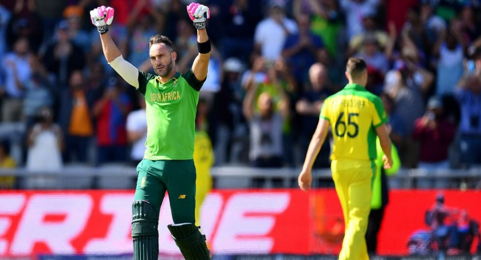 Du Plessis, South Africa v Australia, 2019 WC