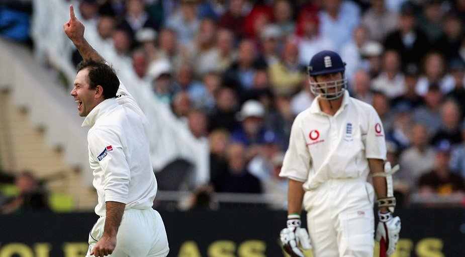 Ponting gets Vaughan, Ashes 2005 (Part-timer scalps)