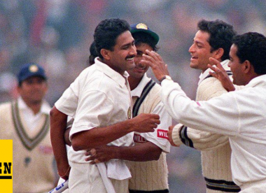 Wisden's Test spells of the 1990s, No.1: Anil Kumble's 10-74