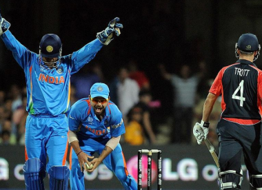 How Dhoni's sharp tactical change led to Trott's dismissal in tied 2011 World Cup game