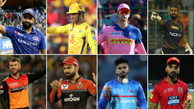 Dhoni v Rohit, Kohli v Warner – How the IPL 2020 captains match up