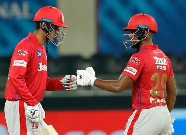 IPL 2020: Mujeeb dismissed after two reviews in one ball