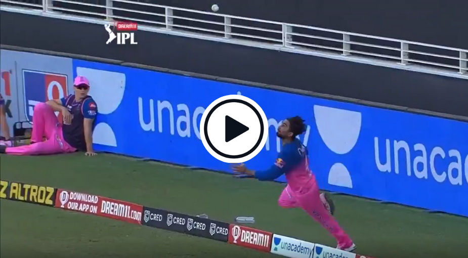 Watch: Rahul Tewatia Completes Spectacular Juggling Boundary Catch