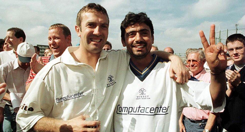 Ian Salisbury and Saqlain Mushtaq