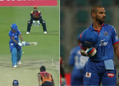 Shikhar Dhawan responds after being taunted for not using DRS review
