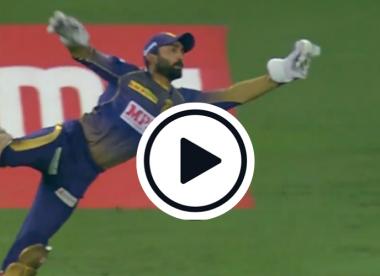 Watch: Ben Stokes left stunned by Dinesh Karthik's wonder grab in IPL