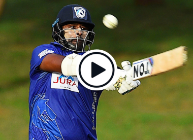 Watch: Thisara Perera blasts 30-run over in record-breaking 97* from No.7