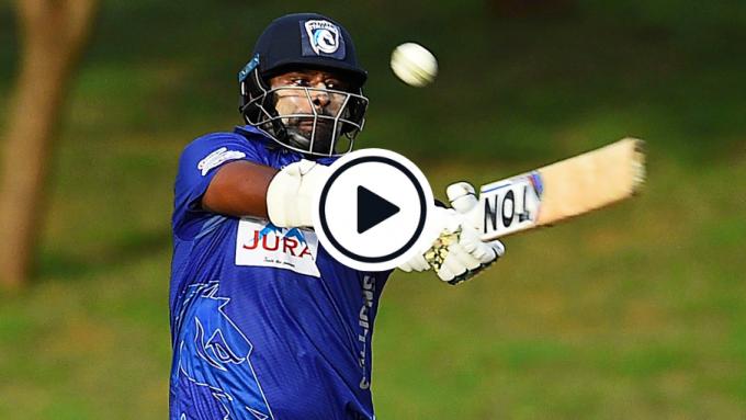 Watch: Thisara Perera blasts 30-run over in record-breaking 97* from No.7