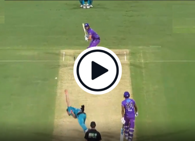 Watch: Lewis Gregory misses cut strip as off-cutter goes wrong