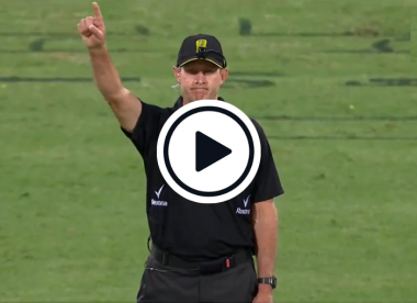 Watch: BBL umpire gives batsman out off free hit, attempts to style it out